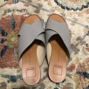 Grey Dolce Vita slide sandals